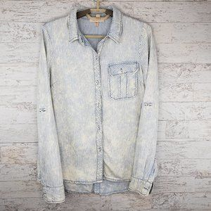 Skies Are Blue Front Back Button Shirt